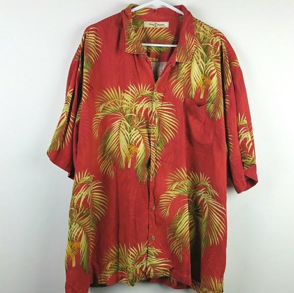 6006fa3765055e Tommy Bahama Silk Palm Print Shirt XXL. M 5ad35fe5a6e3ea3e28f7fb62